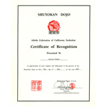 Certificate of Recognition, May 7, 1997
